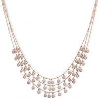 Damen Anne Klein Rose vergoldet Dreifach Row Halskette
