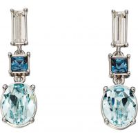Ladies Elements Sterling Silver Blue Stone Drop Earrings E5362