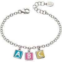 D For Diamond Kinderen ABC Charm Bracelet Sterling Zilver B4878