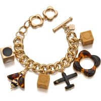 Ladies Orla Kiely Gold Plated Charm Bracelet B4860