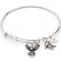 Damen Chrysalis Silber Plated CHARMED PHOENIX EXPANDABLE BANGLE