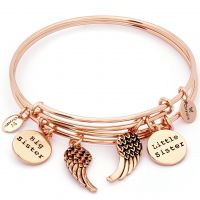 Ladies Chrysalis PVD rose plating TWO OF A KIND SISTERS EXPANDABLE BANGLE CRBT1904RG