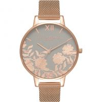 Damen Olivia Burton Lace Detail Watch OB16MV65