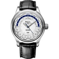 Herren Ball Trainmaster Worldtime Watch GM2020D-LL1CJ-SL