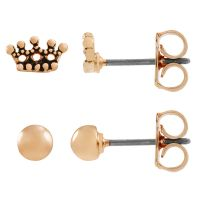Damen Juicy Couture Basis metal Crown Expressions Stud Ohrring Set