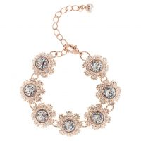 Ladies Ted Baker Gold Plated Seah Crystal Daisy Lace Bracelet