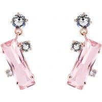 Ladies Ted Baker Rose Gold Plated Broklyn Crystal Baguette Earring TBJ1392-24-07
