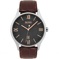 Hugo Boss Governor Herrklocka Brun 1513484