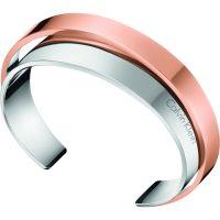 Ladies Calvin Klein Two-Tone Steel and Rose Plate Unite Bangle KJ5ZPF20010S