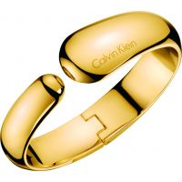 Ladies Calvin Klein Gold Plated Small Informal Bangle