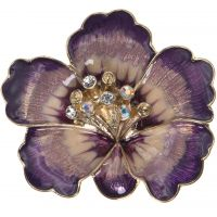 Ladies Anne Klein Gold Plated Flower Brooch