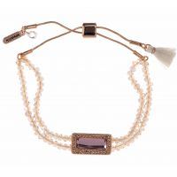 Ladies Lonna And Lilly Gold Plated Beaded Slider Bracelet 60425372-D99