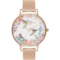 Femmes Olivia Burton Painterly Prints Floral Birds Print Montre