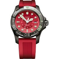 Victorinox Swiss Army Dive Master Mens Black Ice Red Dial & Herrklocka Röd 241577