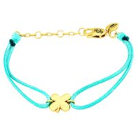 Ladies Juicy Couture Gold Plated Lucky Cord Bracelet