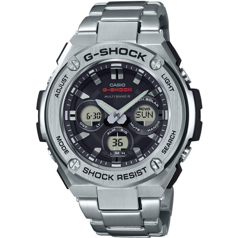 Herren Casio G-Steel Midsize Alarm Chronograph Radio Controlled Watch GST-W310D-1AER