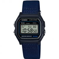 unisexe Casio Classic Collection Cloth Alarm Chronograph Watch W-59B-2AVEF