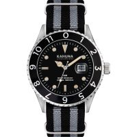 Herren Kahuna Black and Grey Nato Strap Watch KUS-0125G