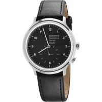 Mondaine Helvetica Regular 2nd Time Zone Unisexklocka Svart MH1R2020LB