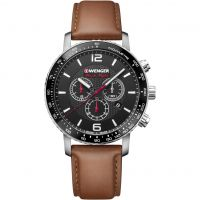 Wenger Roadster Black Night Chrono Herenchronograaf Bruin 011843104