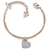Ladies Guess Rose Gold Plated My Sweetie Bracelet