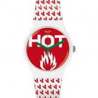 unisexe Swatch Au Feu Watch SUOW146