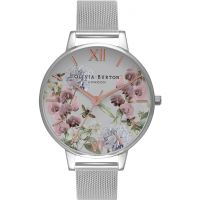 femme Olivia Burton Parlour Floral Print Mesh Watch OB16PL34