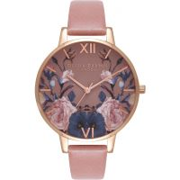 Damen Olivia Burton Enchanted Garten Rose & Rose Gold Uhren