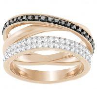 Damen Swarovski Rose vergoldet Hero Ring Größe 52