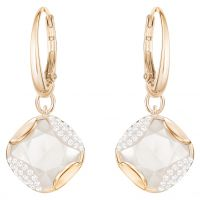 Ladies Swarovski Rose Gold Plated Heap Earrings 5364315