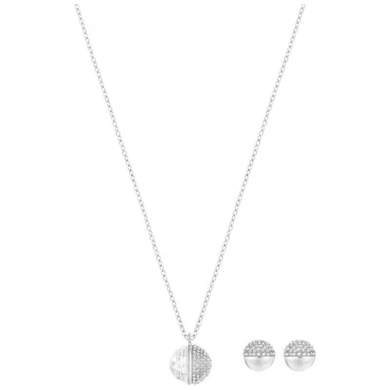 Ladies Swarovski Silver Plated Hote Set 5301466