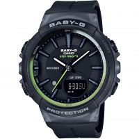 Casio Baby-G Step Counter Dameschronograaf Zwart BGS-100-1AER