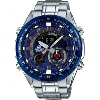 Herren Casio Edifice Racing Blau Serie Wecker Chronograf Uhren