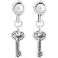 Ladies UNOde50 Silver Plated Llavestruz Earrings PEN0523BPLMTL0U
