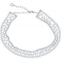 Ladies Anne Klein Silver Plated Just Shine Choker Necklace 60466559-G03