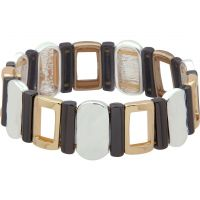 Ladies Nine West Multi colour gold Stretch Bracelet