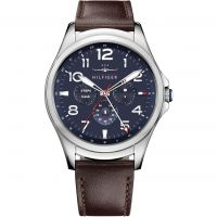 Tommy Hilfiger TH 24-7 Bluetooth Android Wear Herenhorloge Bruin 1791406