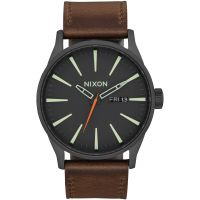 Nixon The Sentry Leather Herenhorloge Bruin A105-2736