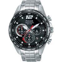Mens Pulsar Accelerator Chronograph Solar Powered Watch