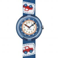Enfants Flik Flak Camping Badge Bleu Montre
