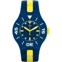 Swatch Long Waves Unisexklocka Gul SUUN102