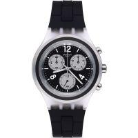 Unisex Swatch Eleblack Chronograph Watch