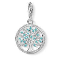 Thomas Sabo Dames Charm Club Tree of Love Charm Sterling Zilver 1469-041-17