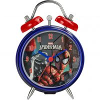 Character Marvel Spiderman Twin Bell Clock Kinderenhorloge Blauw SPM63