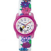 enfant Timex Kids Analog x Peanuts Snoopy Flowers Watch TW2R41700