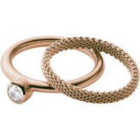 Damen Skagen Rose vergoldet Größe K Elin Ring