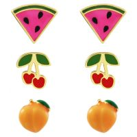Sieraad Juicy Couture Jewellery Fruit Earrings Stud Set 39WJW119176-712
