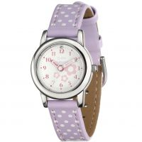 Childrens D For Diamond Stainless Steel Floral Lilac Watch