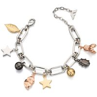 Ladies Fiorelli Multi colour gold Nature Charm Bracelet