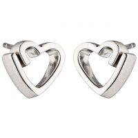 femme Fiorelli Jewellery Ribbon Heart Stud Earrings Watch E5460